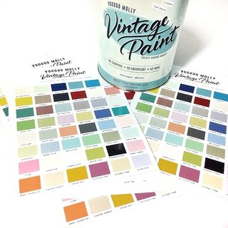 Vintage Paint Colour Chart