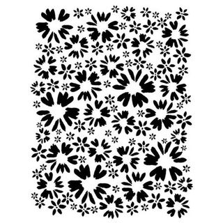 Stencil Flower Patch 22 x 30cm