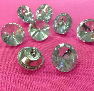 Glass crystal Buttons