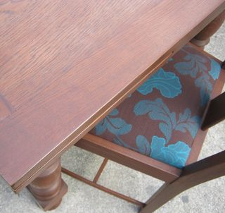 Refurbishing oak dining suite